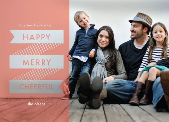 holiday photo cards - Happy Merry Cheerful by Katharine Sison