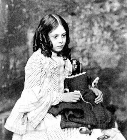 Lorina Liddell, in a portrait by Lewis Carroll. Lorina was an older sister of Alice Liddell, the namesake for the title character in Carroll's most famous works.