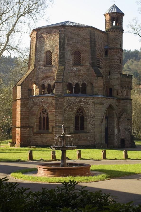 Jedna z nejstarších rotund v Německu, v zahradách firmy, ve městě Mettlach