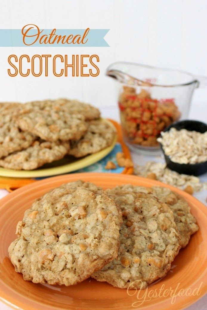 I'm always on the lookout for cookie recipes that don't have chocolate in them - and these old-school Oatmeal Scotchies are perfect!  This recipe makes a large batch, so you'll have plenty to sample before you make your holiday cookie trays. One for me, one for you, one for me...   ~~ Houston Foodlovers Book Club