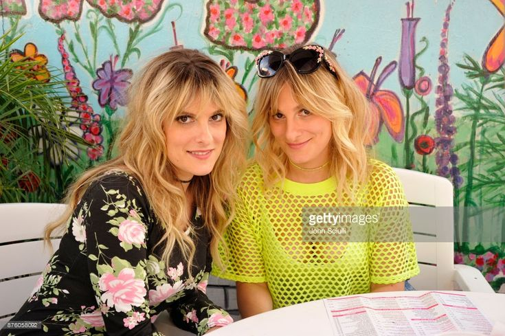 Actors Phoebe Tyers (L) and Claire Tyers attend the 'Search Party' scavenger hunt during Vulture Festival LA presented by AT&T on November 18, 2017 in Hollywood, California.