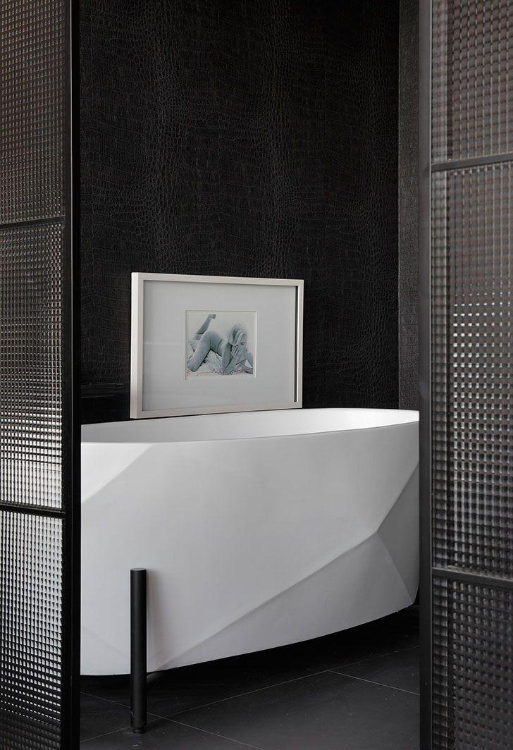 Epingle Par Paris 2222 Sur Bathroom Modern Salle D Eau Cloison En Verre Interieur