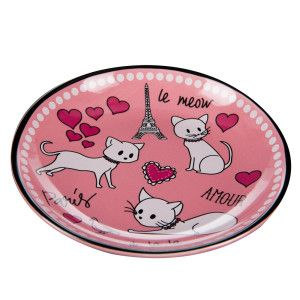 Whisker City® Paris Cat Saucer | Food & Water Bowls | PetSmart