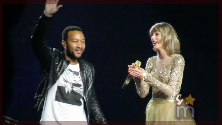 "Taylor Swift & John Legend - ""All of Me"" Clip at Staples Center - YouTube"