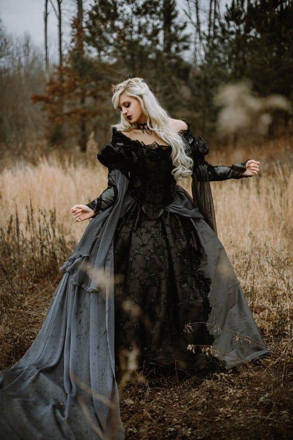 Ball Kleid Prinzessin Gothic viktorianisch Barock Hochzeit Satin Spitze PunkRave