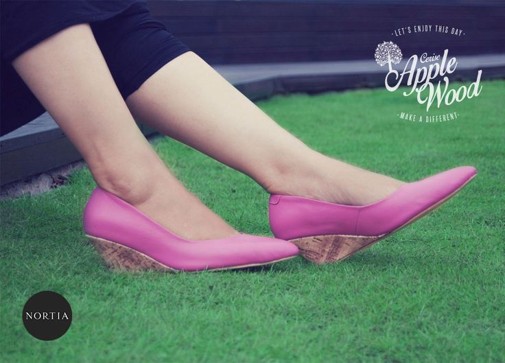 Afternoon greeting from Cerise Applewood #nortia #sepatu #fashion #wanita #highquality #leather #wedges #madeinindonesia #jakarta