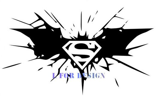 Removable Wall Decal Decoration Batman Vs Superman Logo Children's Bedroom Wall Sticker Decor Manufacture  Window Free Shipping