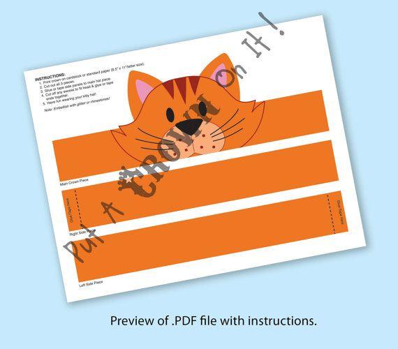 Cat Orange Crown Printable by PutACrownOnIt on Etsy