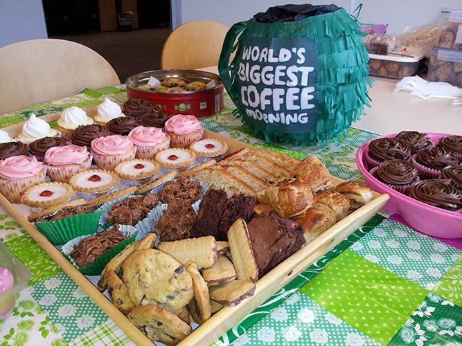 Fundraising fun at our coffee morning for Macmillan Cancer Support.