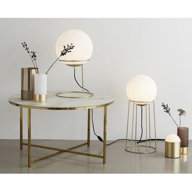 Table Basse Ronde Metal Dore Verre Effet Marbre Hubsch Blanc Hubsch La Redoute Mobile Table Basse Table Basse Ronde Table Basse Ronde En Verre