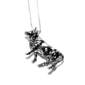 Cow Necklace Silver Plate