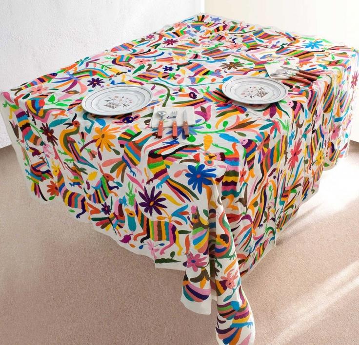 17 mejores ideas sobre manteles mexicanos en pinterest - Manteles de mesa bordados ...