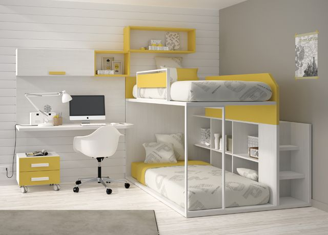 "Beds for kids. ""Kids Touch 59 Litera y escritorio"""