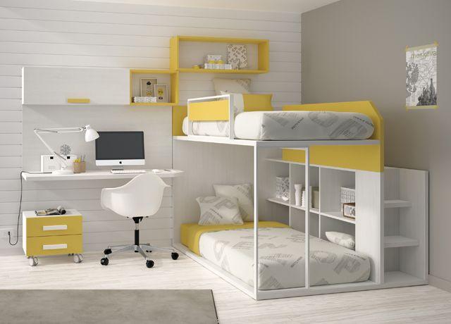 Muebles juveniles con literas fijas tipo tren literas - Literas tipo tren medidas ...