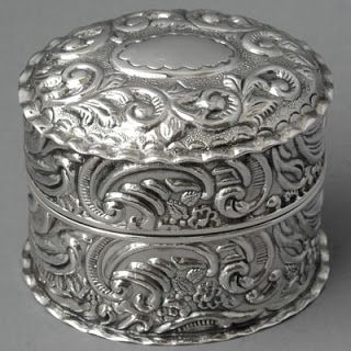 Sterling silver ring box