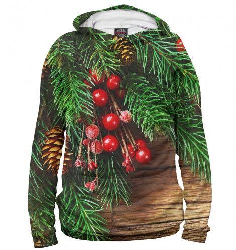 Креативный костюм новогодней ели в виде худи, свитшота, толстовки, майки, борцовки или футболки на выбор — http://fas.st/5cEZR