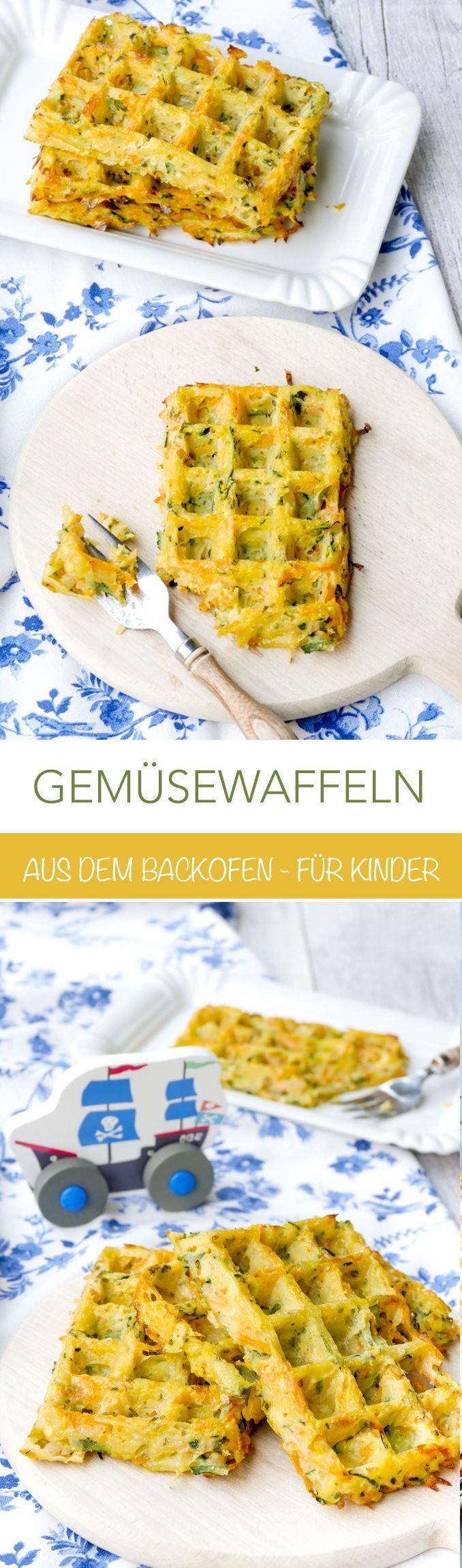 Gemüsewaffeln für Kinder aus dem Backofen – Gaumenfreundin Foodblog – Gesunde & schnelle Rezepte