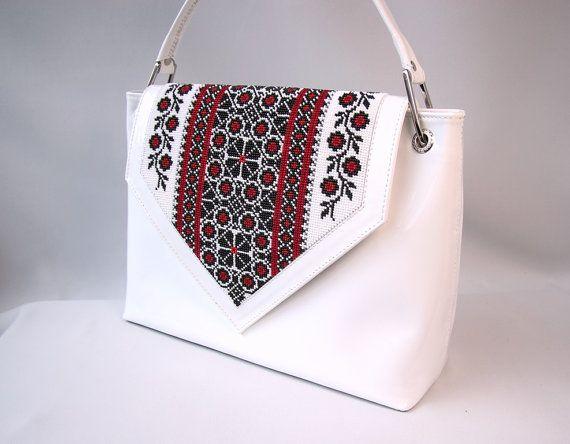 Verkauf Ledertasche handgemachte Tasche weiße von AfinaHandmade