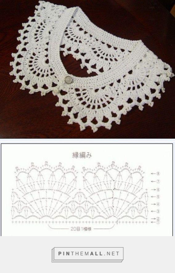 68 best Kragar og hálsskraut images on Pinterest | Crochet ...