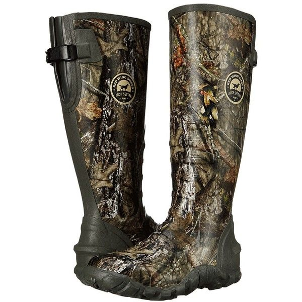 Irish Setter Rutmaster 2.0 Lite (Mossy Oak Break-Up Country) Men's... ($110) ❤ liked on Polyvore featuring men's fashion, men's shoes, men's boots, men's work boots, mens wellies rain boots, mens slip on work boots, mens wellington boots, mens rubber boots and men's pull on work boots