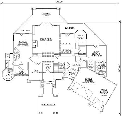 Rambler floor plans professional house floor plans for House plans rambler