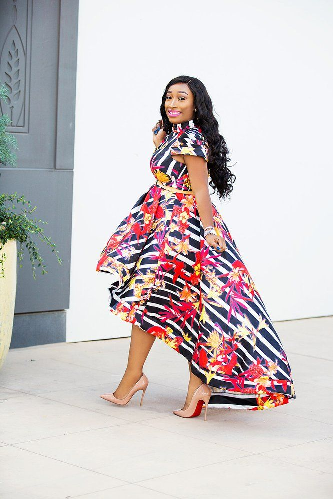 Image Of Stephanie Floral Dress African Maternity Dresses Latest African Fashion Dresses African Print Fashion Dresses