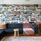 I hate clutter and this toes the line. No room or air to style anything but books sometimes can be dram.  But switching positions of books and filling every nook makes it look like wallpaper.