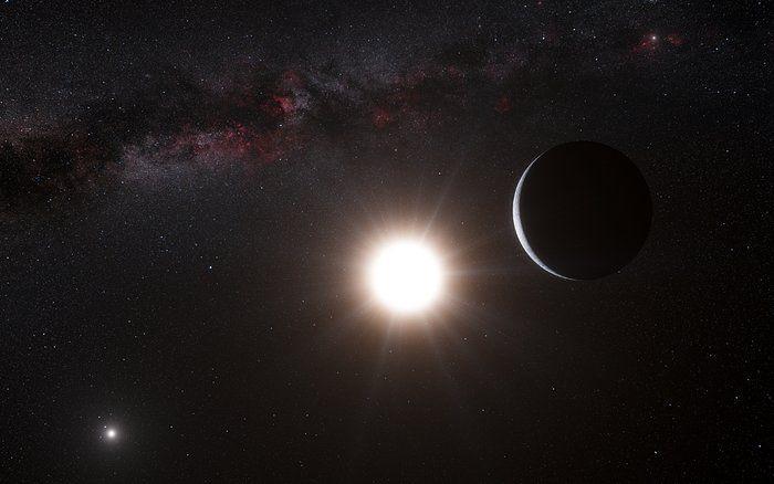 Artystyczna wizja planety wokół Alfa Centauri B