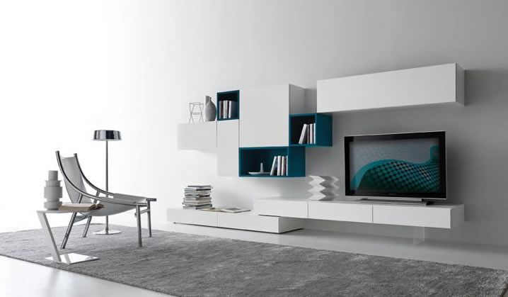 Contemporary Modular Wall Unit Design Ideas for Living Room ...