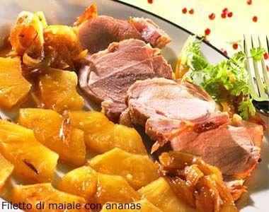 Filetto di maiale con ananas - Le ricette di alfemminile.com