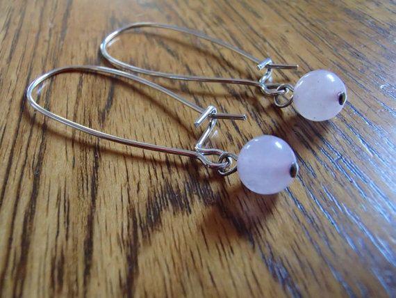 Rose Stone Earrings by LetterT on Etsy