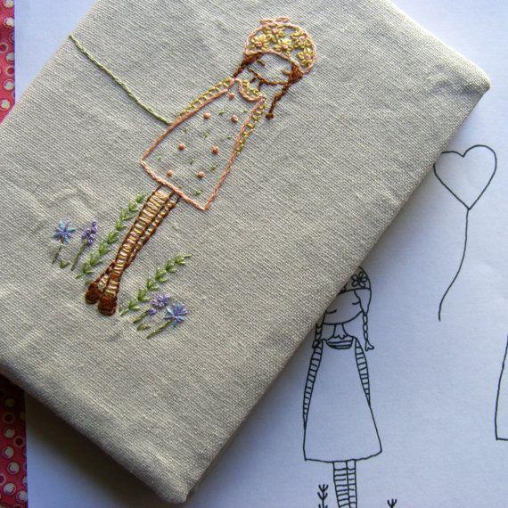 daisy girl embroidery pattern. £2.50, via Etsy.