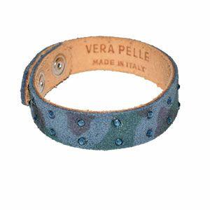 Bracciale pelle grigio by Valery Design Bijoux