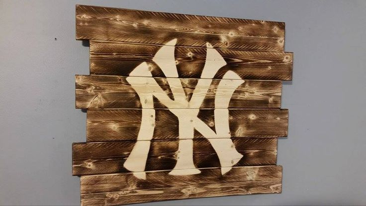 New York Yankees wall art by CarolinaPalletDesign on Etsy https://www.etsy.com/listing/219847694/new-york-yankees-wall-art