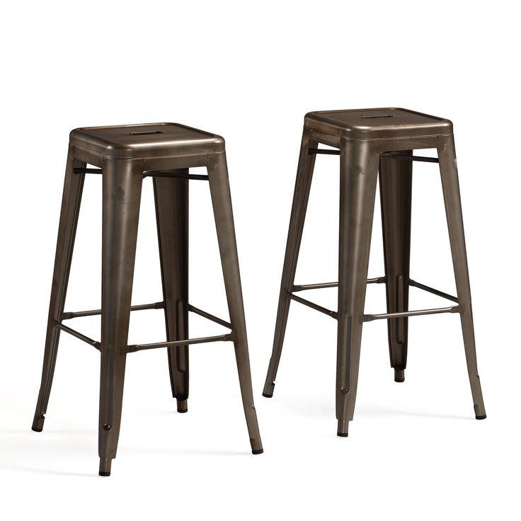 tabouret 30 inch vintage and gunmetal bar stools set of 2 shopping vintage and the o 39 jays. Black Bedroom Furniture Sets. Home Design Ideas