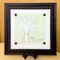 Looking for another quick, easy and personalized holiday gift idea that's sure to earn you ooohs and ahhhs? Create a framed family tree using your StoryBook Creator 4.0 [US | CAN]. And hurry -- holiday deadlines are fast approaching! [US | CAN] Here's how easy it is: Open StoryBook Creator and start a 12x12 page print. Fill your background with a solid color (I used a neutral greenish color), then apply a surface (Format ribbon, Surfaces button; I used the Cord surface). Find a tree…