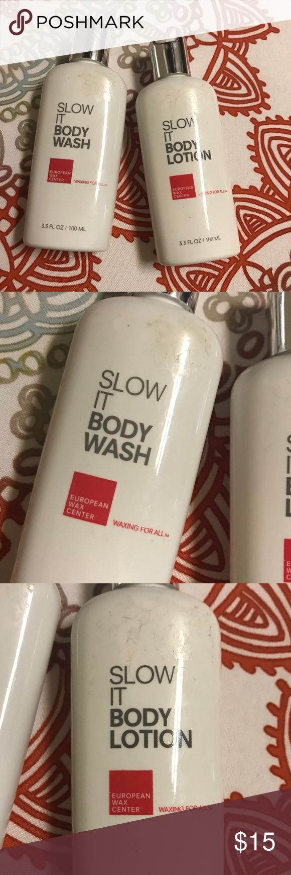 Slow It Body Lotion and Wash New European Wax Center Wash and Lotion. 3.3 Fl oz European Wax Center Makeup