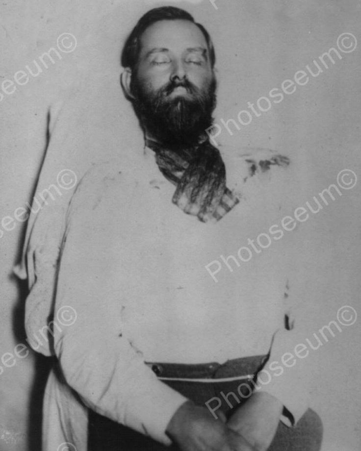 Jesse James Dead Body Close Up 1880s 8x10 Reprint Of Old Photo