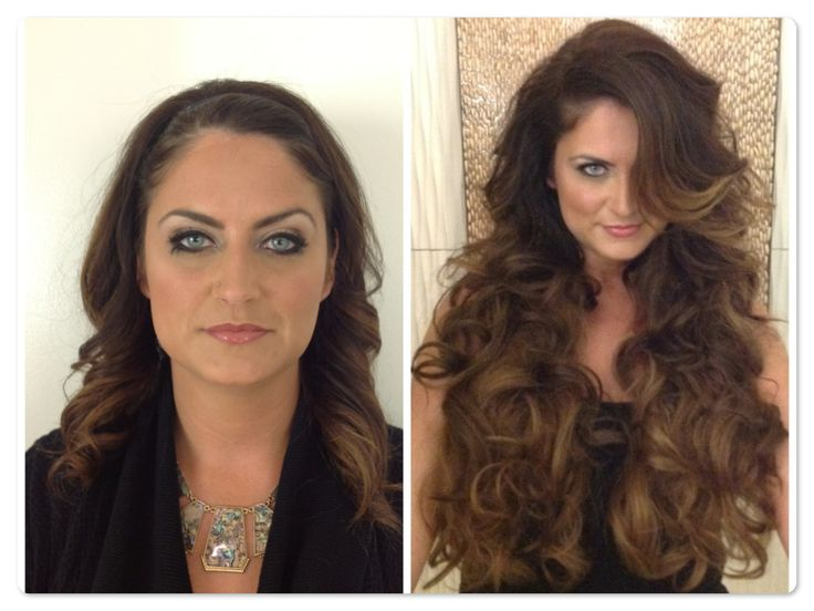 72 best hair extensions before and after images on pinterest before and after balmain clip on extensions southcenter salon genejuarez pmusecretfo Gallery