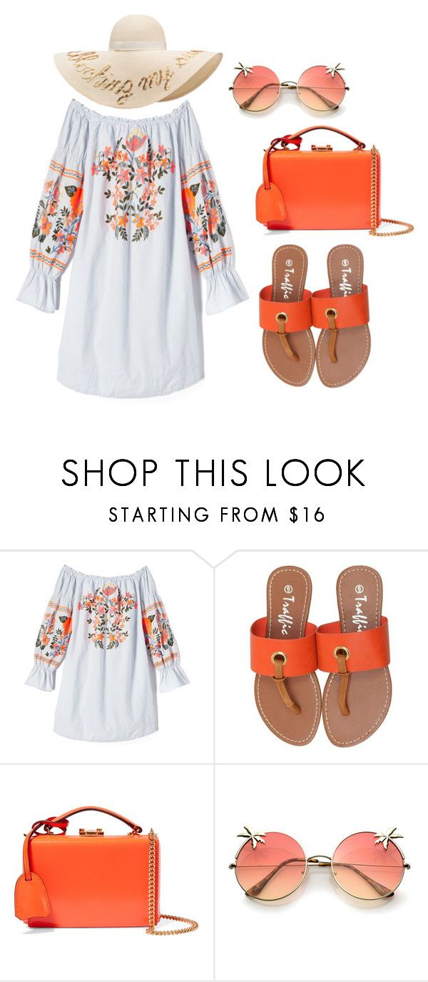 """Flat Sandals Contest"" by salbiylaazzara-fashion on Polyvore featuring Free People, Mark Cross and Eugenia Kim"
