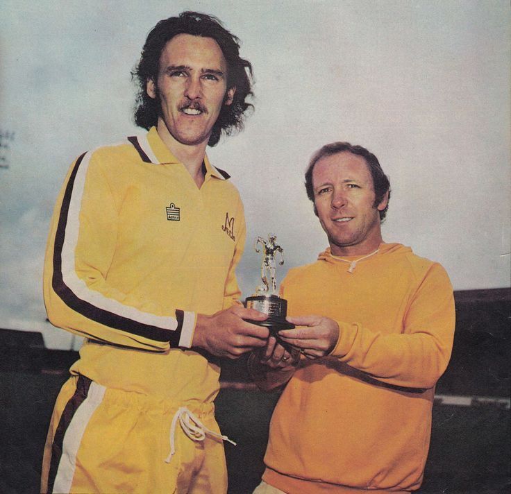 "May 1976. Motherwell striker Willie Pettigrew receives a trophy to commemorate his 29 league goals in the top flight of Scottish football. Never has the words ""a natural born scorer"" seemed so apt with Pettigrew offering little else to his game."