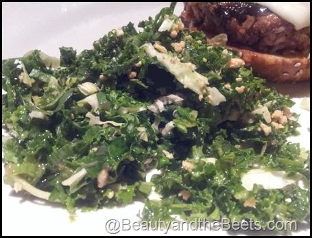Houston's/ Hillstone Kale Salad with Peanut Dressing - will use tamari.  Restaurant version has soy sauce, so not GF, but did taste my friend's and it was so good I want to make it at home