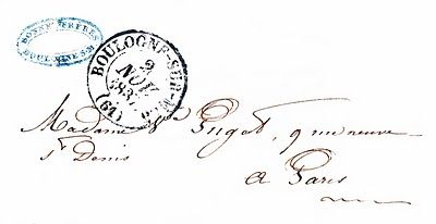 Vintage Ephemera Clip Art - Paris Letter with Postmark - The Graphics Fairy