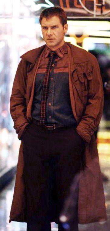 Harrison Ford as Rick Deckard in Ridley Scott's 'Blade Runner' (1982). Costume Designer: Michael Kaplan