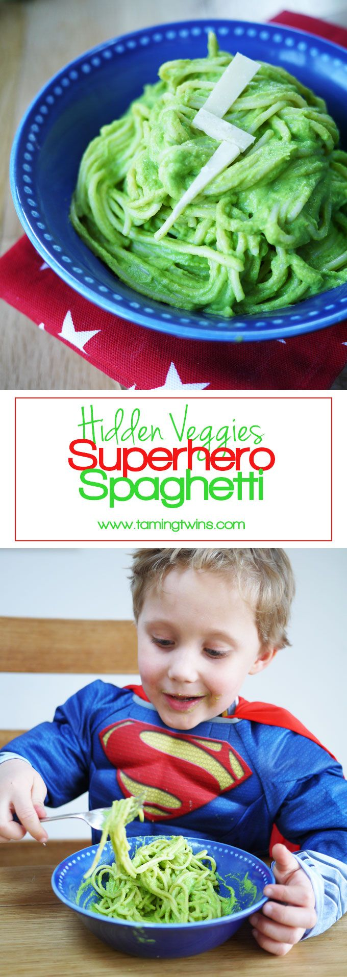 Superhero Hidden Vegetable Pasta Sauce - This may not turn you into Superman, but it reminds us of The Hulk and packed with hidden veggies, that's a superpower right?! A brilliant kids meal for fussy eaters. (Ssshh.. Secretly packed with cauliflower, broc