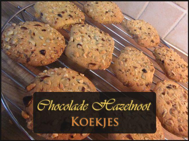 Heerlijke verse chocolade hazelnoot koekjes!
