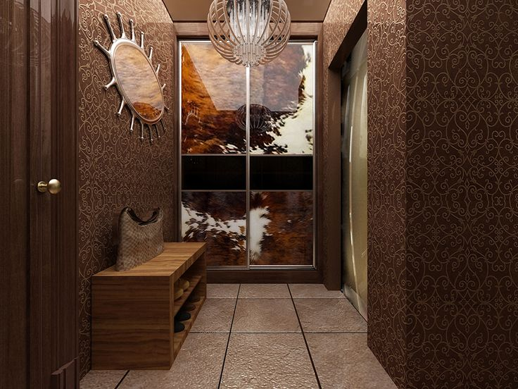 Яркий фактурный дизайн однокомнатной квартиры