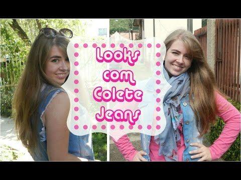Looks com colete jeans - Outono/Inverno - YouTube