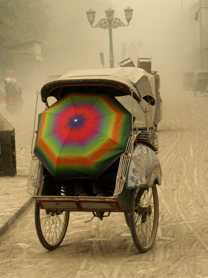 Malioboro street with vulcanic dust mt. kelud by sentul kenyut on 500px