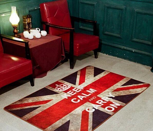 Британский стиль юнион джек британский флаг спальня, Гостиная журнальный столик коврики старинные гостиная коврик милый